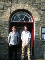 The guys and the Capel the morning after the gig.